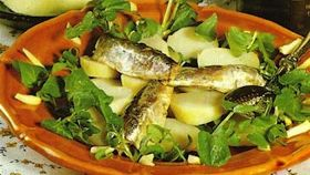 Insalata con sardine all'olio