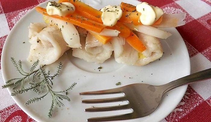 Merluzzo in bianco con verdure col Bimby