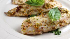 Tilapia with pistachios