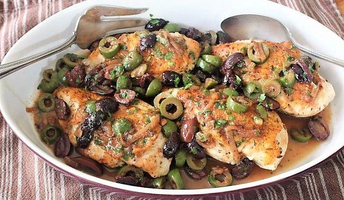 Pollo con olive al Frascati