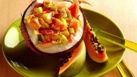 Salade de Crabe à la papaye