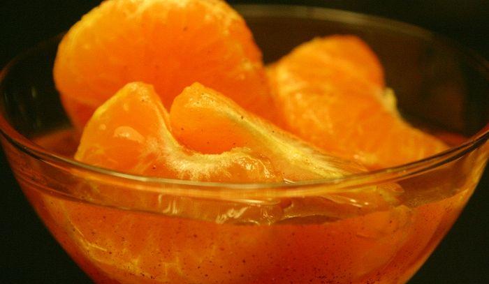 Spicchi d'arance sciroppati