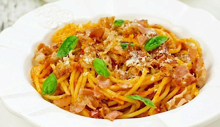 Bigoli con salsa di zucca Monte Veronese