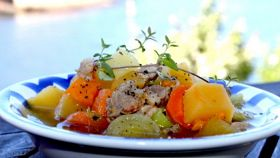 Grønnsakssuppe med poteter