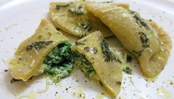 Mezzelune ricotta e spinaci