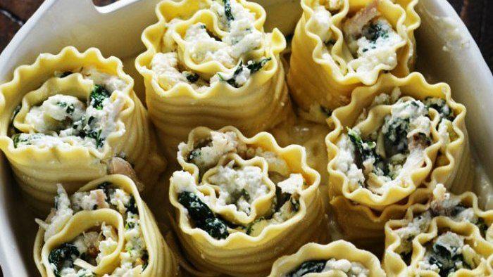 Nidi di rondine con ricotta e spinaci