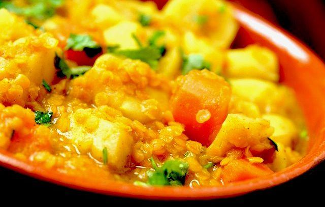Riso con ortaggi al curry