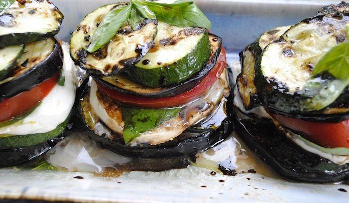 Zucchini e melanzane al basilico