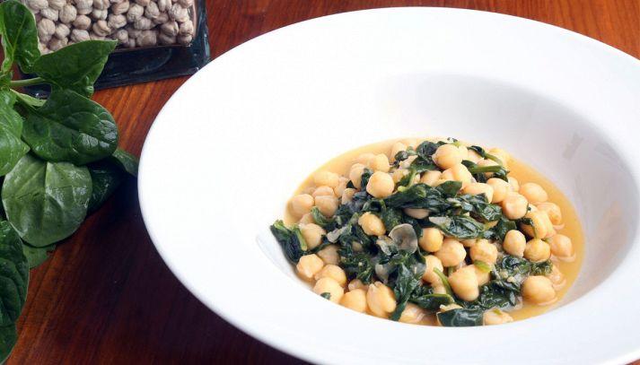 Zuppa di ceci e spinaci