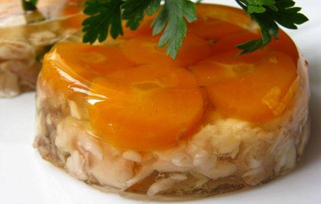 Aspic di carote e porcini