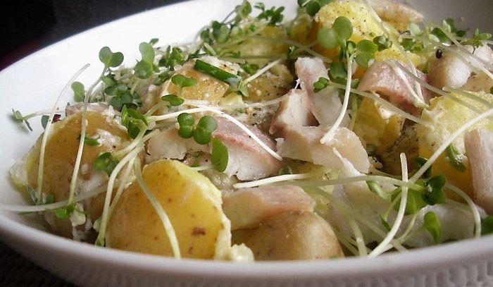 Insalata calda di anguilla e patate