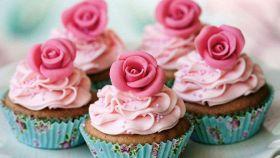 Muffin con le rose