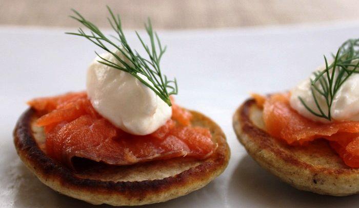 Pancake di salmone affumicato