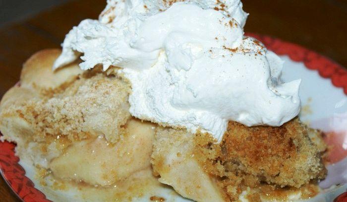 Pie di pere con panna