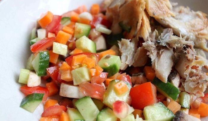 Sgombro in insalata