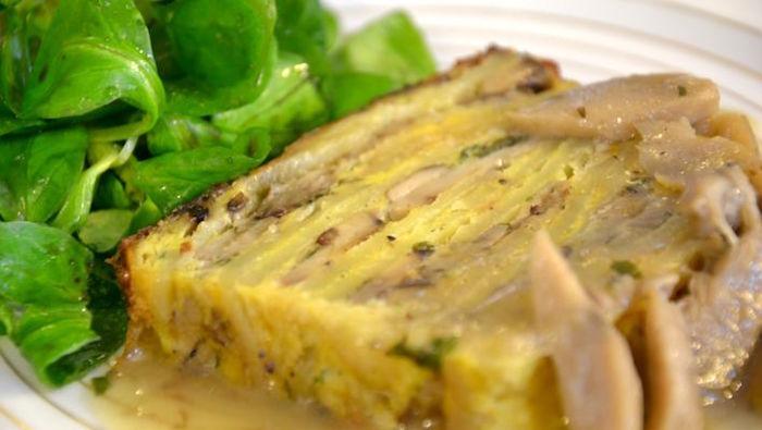 Terrina con patate e champignon