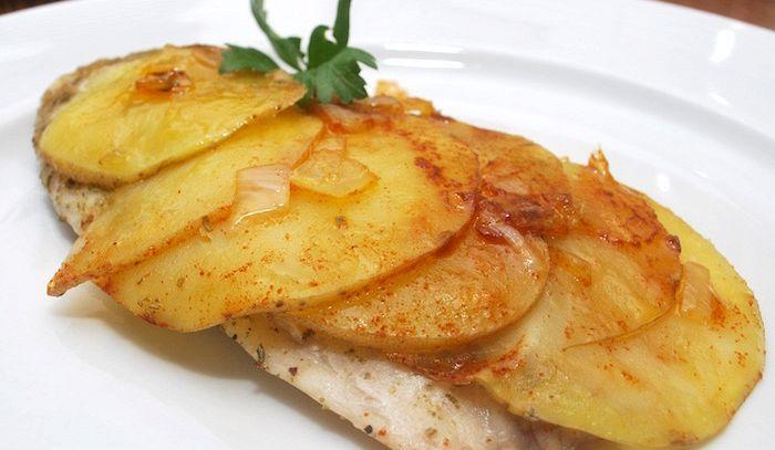 Triglie in crosta di patate