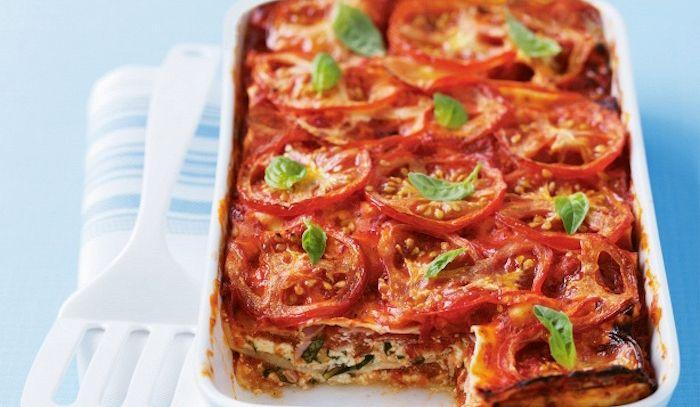 Lasagne pomodoro e prosciutto