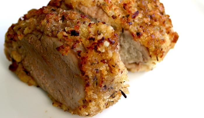 Arista in crosta di pane e noci