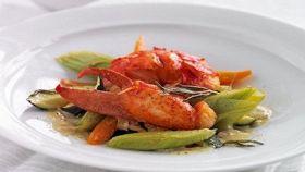 Astice con verdure alla salsa di limone
