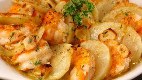 Gamberetti con patate