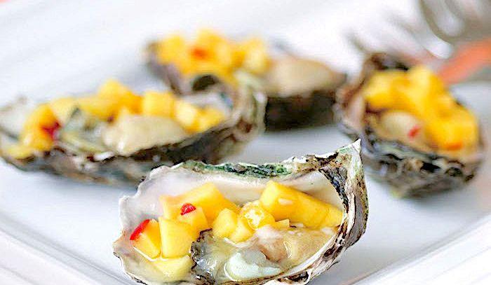 Ostriche con salsa di mango