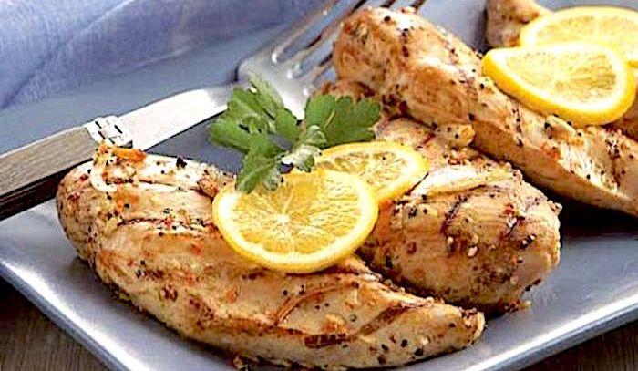 Pollo con limone e aglio