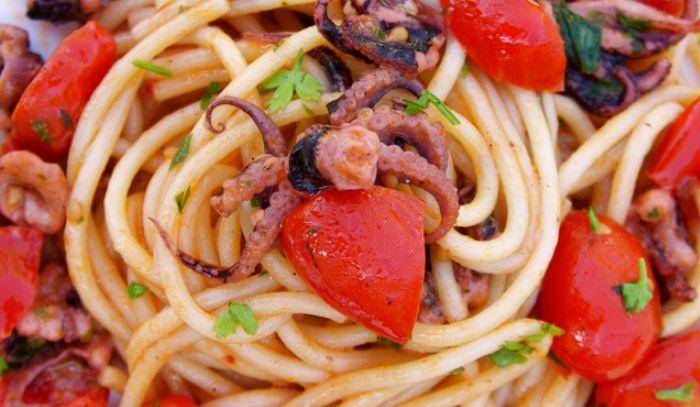 Spaghetti al polpo