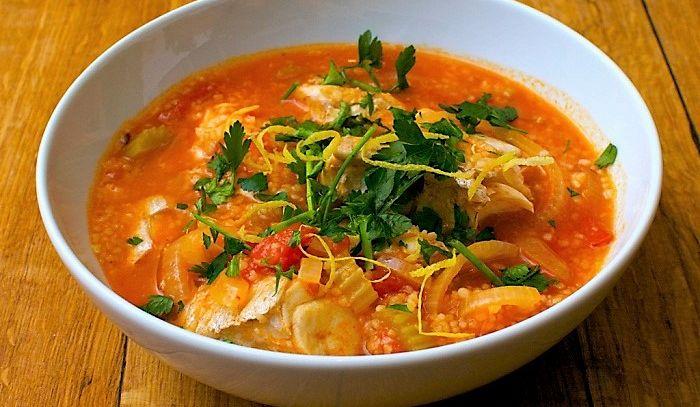 Zuppa di pesce con couscous