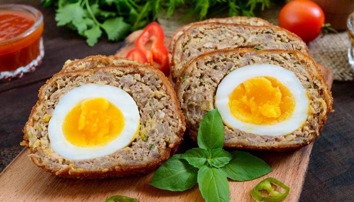 Polpettone all'uovo sodo