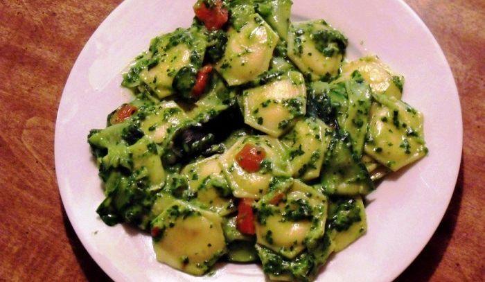 Ravioli verdi con ortaggi