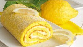 Rotolo al limone senza latte
