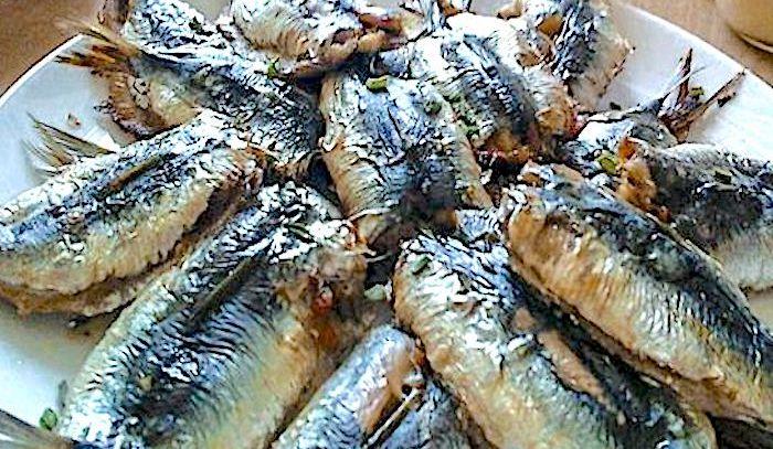 Sardine fritte con patate