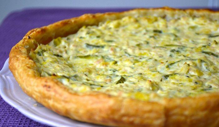 Torta di zucchine e uova di quaglia