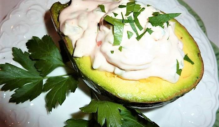 Avocado al gorgonzola