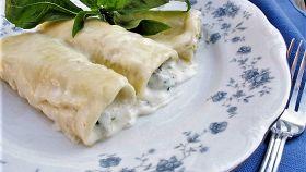 Cannelloni al ripieno di carciofi e spinaci