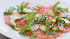 Carpaccio di vitello all'avocado