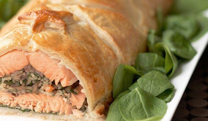 Coulibiac di salmone