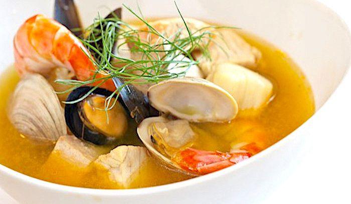 Minestra di mare con salsa rouille