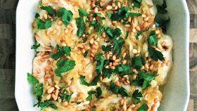 Pesce al forno con salsa tahin