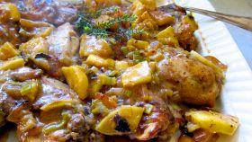Pollo alle mele e senape