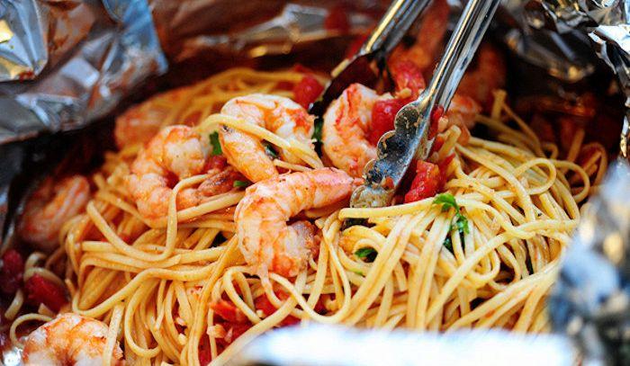 Spaghetti ai frutti di mare al forno