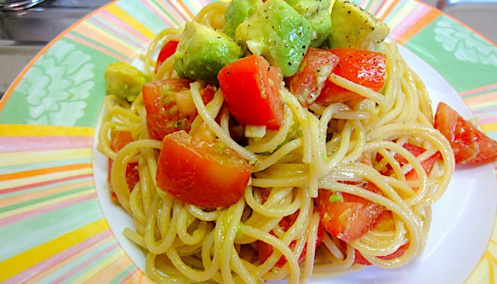 Spaghetti ai frutti esotici