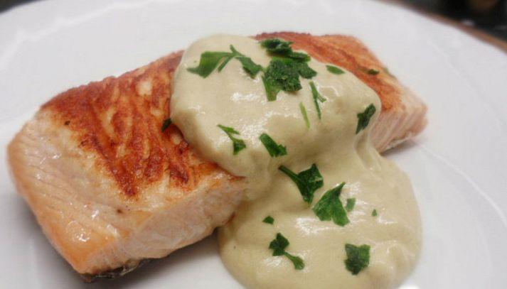 Tranci di pesce con salsa alla senape