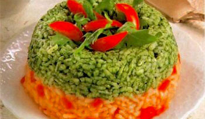 Corona di riso ai due colori