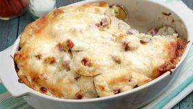 Patate con crema al prosciutto