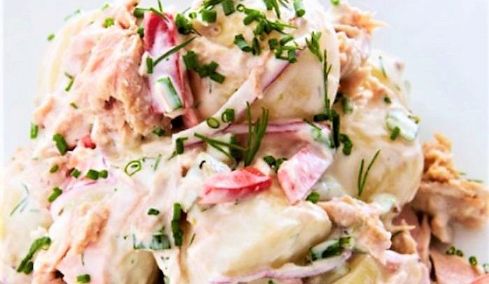 Patate in salsa di tonno