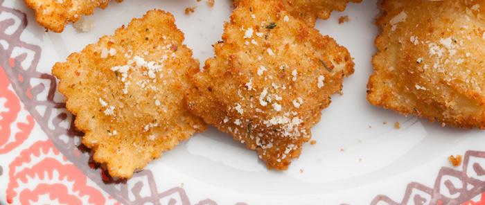 Ravioli di porcini fritti con balsamico