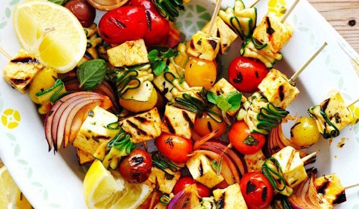Spiedini di verdure alla brace