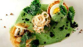 Tortino di broccoli con crema